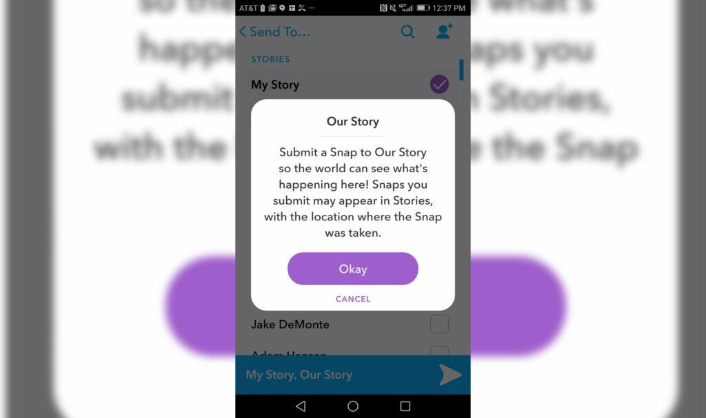 global story snapchat