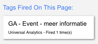 Google Tag Manager Event