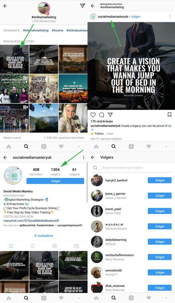 instagram volgers